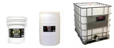 Mirachem comes in gallons, 5-gallon pails, and 55-gallon drums.